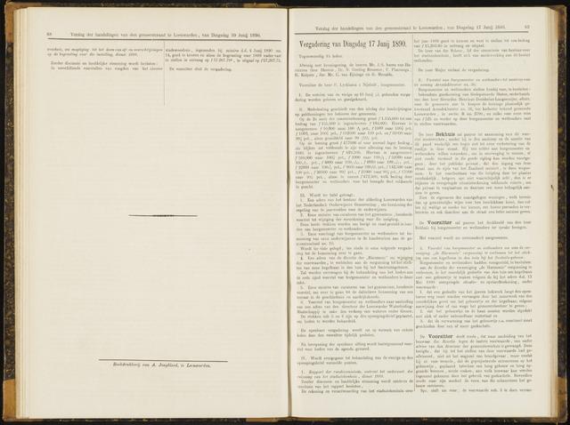 Raadsverslagen van de gemeente Leeuwarden, 1865-2007 (Notulen) 1890-06-17