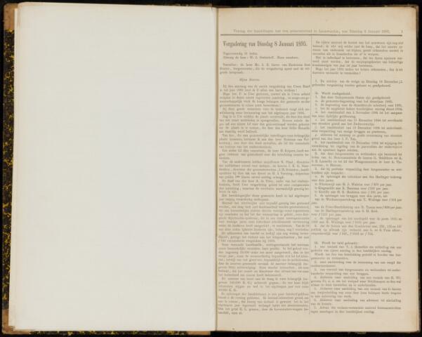 Raadsverslagen van de gemeente Leeuwarden, 1865-2007 (Notulen) 1895