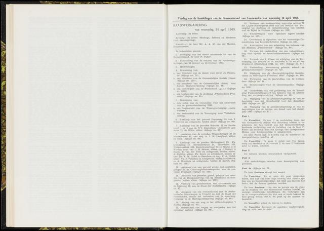 Raadsverslagen van de gemeente Leeuwarden, 1865-2007 (Notulen) 1965-04-14