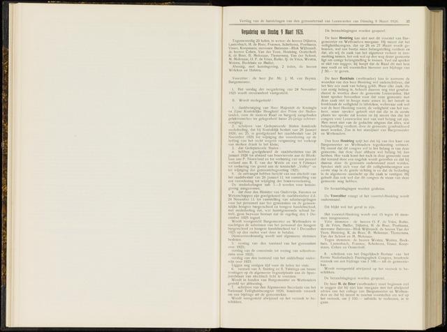 Raadsverslagen van de gemeente Leeuwarden, 1865-2007 (Notulen) 1926-03-09