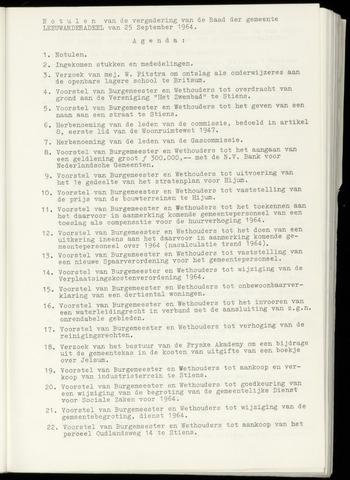 Notulen van de gemeenteraad van Leeuwarderadeel 1964-09-25