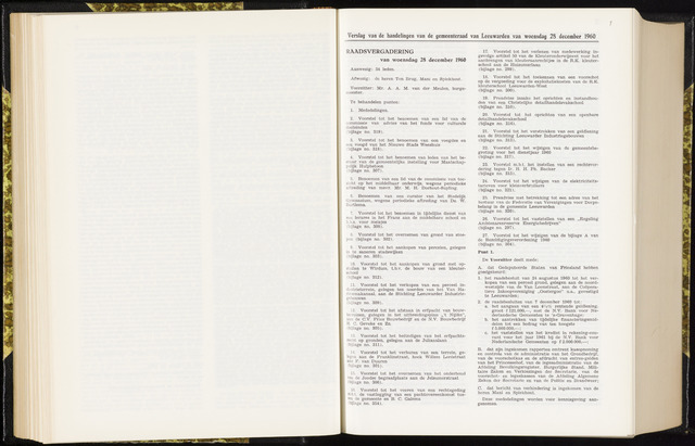 Raadsverslagen van de gemeente Leeuwarden, 1865-2007 (Notulen) 1960-12-28