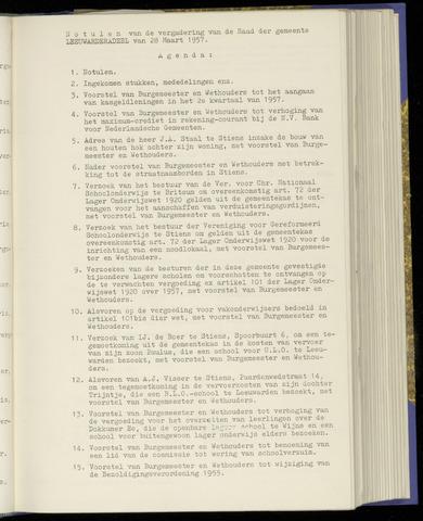 Notulen van de gemeenteraad van Leeuwarderadeel 1957-03-28