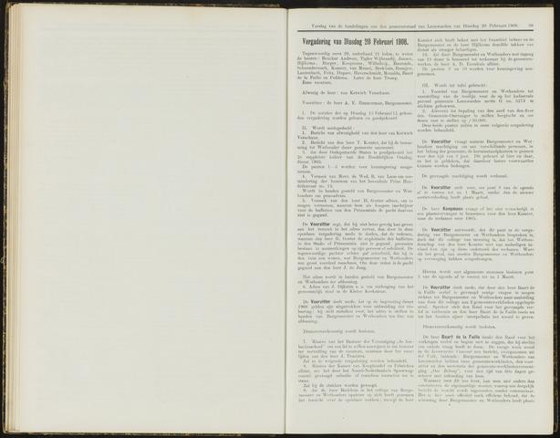 Raadsverslagen van de gemeente Leeuwarden, 1865-2007 (Notulen) 1906-02-20