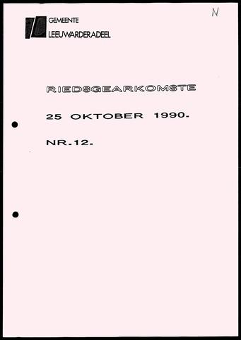 Notulen van de gemeenteraad van Leeuwarderadeel 1990-10-25
