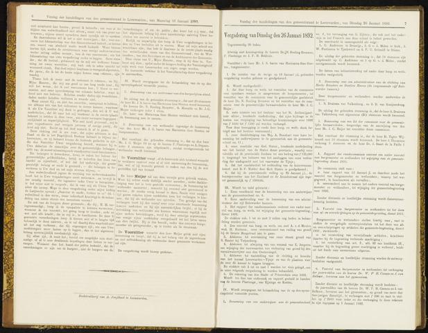 Raadsverslagen van de gemeente Leeuwarden, 1865-2007 (Notulen) 1892-01-26