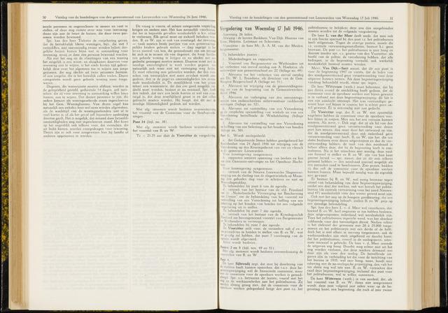 Raadsverslagen van de gemeente Leeuwarden, 1865-2007 (Notulen) 1946-07-17