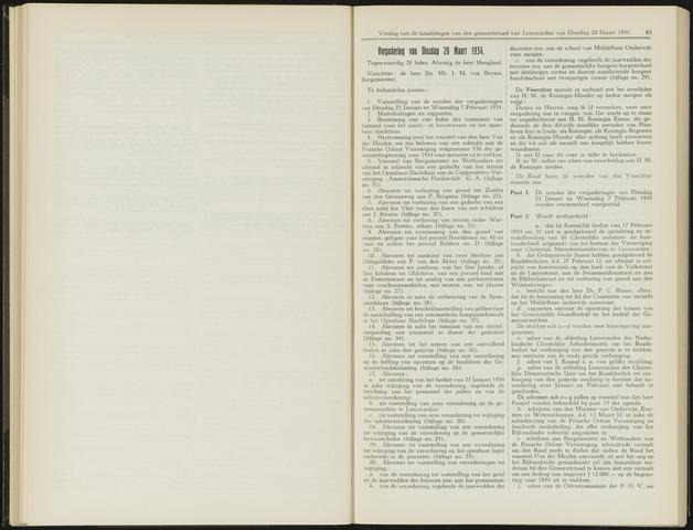 Raadsverslagen van de gemeente Leeuwarden, 1865-2007 (Notulen) 1934-03-20
