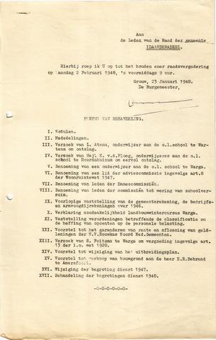 raadsverslagen Idaarderadeel 1935-1983 1948