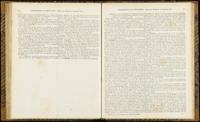 Raadsverslagen van de gemeente Leeuwarden, 1865-2007 (Notulen) 1866-09-13