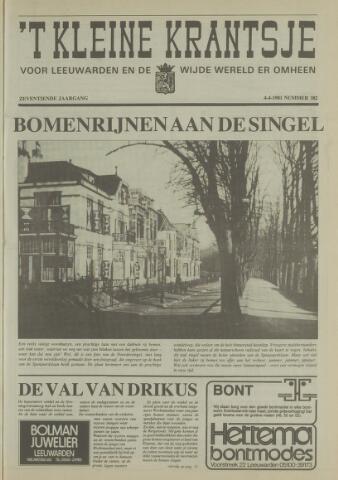 't Kleine Krantsje, 1964-1997 1981-04-04