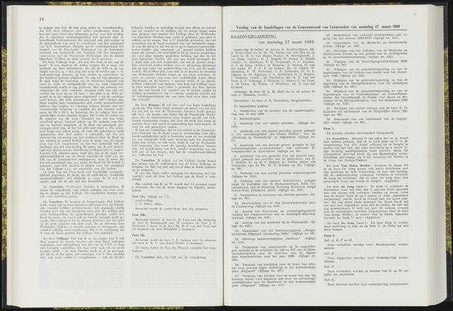 Raadsverslagen van de gemeente Leeuwarden, 1865-2007 (Notulen) 1969-03-17