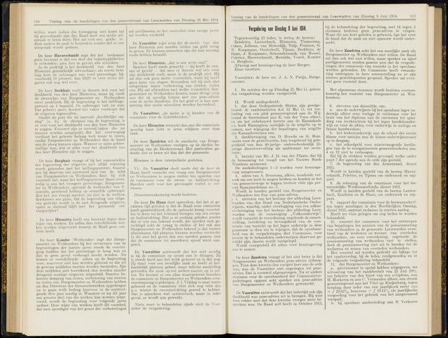 Raadsverslagen van de gemeente Leeuwarden, 1865-2007 (Notulen) 1914-06-09