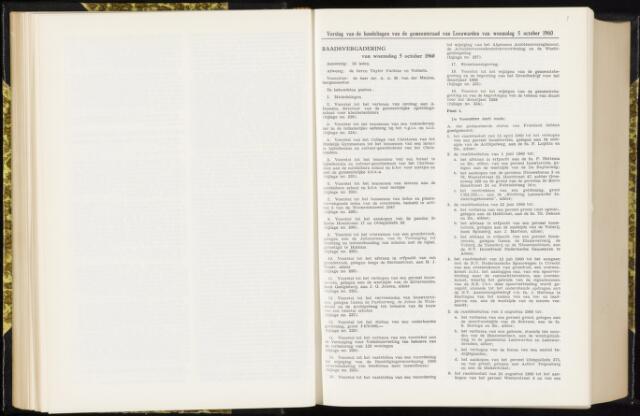 Raadsverslagen van de gemeente Leeuwarden, 1865-2007 (Notulen) 1960-10-05