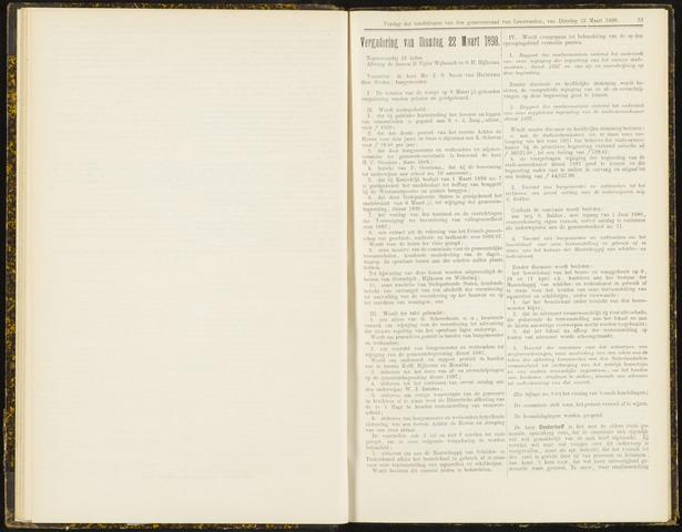 Raadsverslagen van de gemeente Leeuwarden, 1865-2007 (Notulen) 1898-03-22