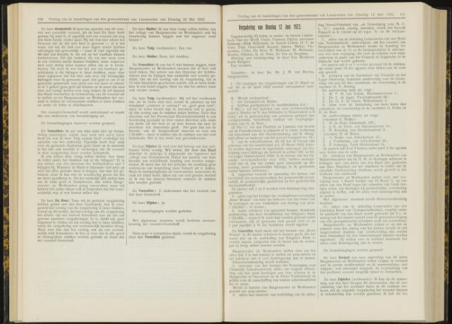 Raadsverslagen van de gemeente Leeuwarden, 1865-2007 (Notulen) 1923-06-12