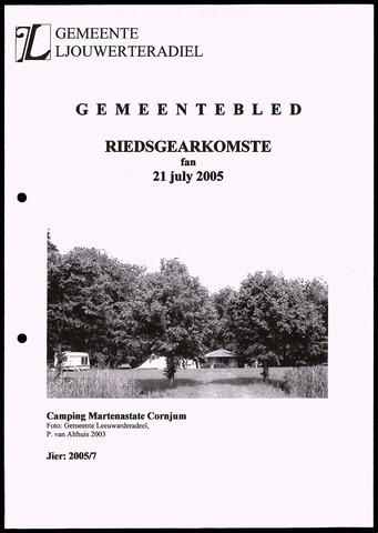 Notulen van de gemeenteraad van Leeuwarderadeel 2005-07-21