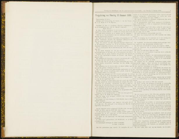 Raadsverslagen van de gemeente Leeuwarden, 1865-2007 (Notulen) 1891