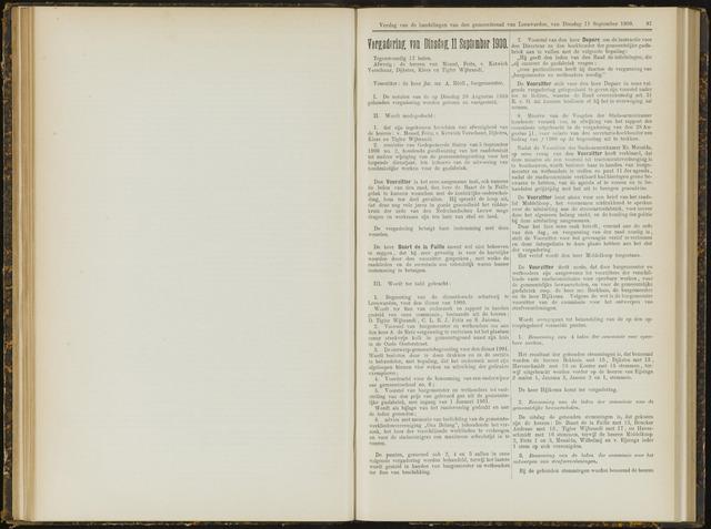 Raadsverslagen van de gemeente Leeuwarden, 1865-2007 (Notulen) 1900-09-11