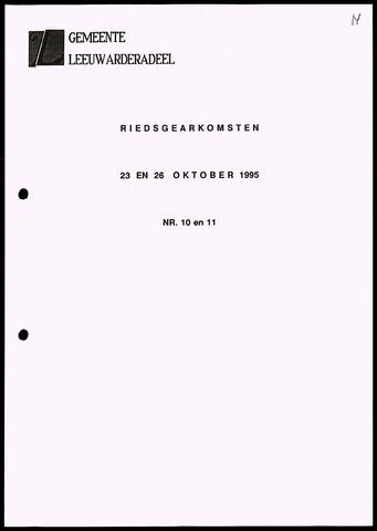 Notulen van de gemeenteraad van Leeuwarderadeel 1995-10-23