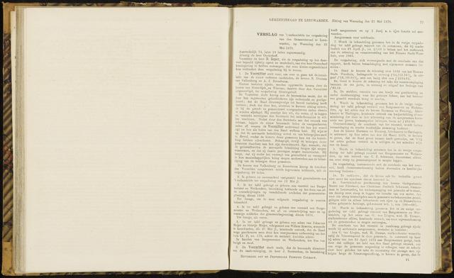 Raadsverslagen van de gemeente Leeuwarden, 1865-2007 (Notulen) 1870-05-25