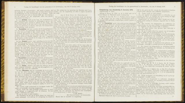 Raadsverslagen van de gemeente Leeuwarden, 1865-2007 (Notulen) 1879-01-09