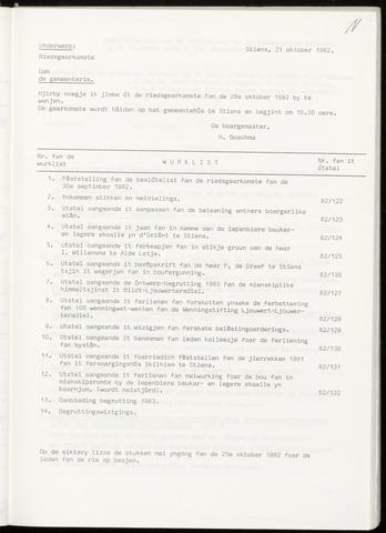 Notulen van de gemeenteraad van Leeuwarderadeel 1982-10-28