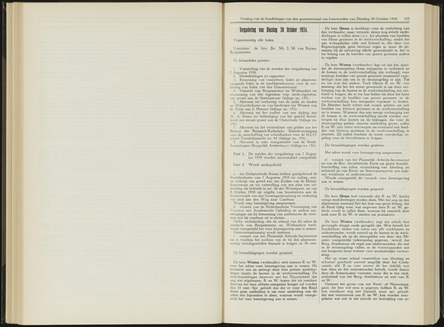 Raadsverslagen van de gemeente Leeuwarden, 1865-2007 (Notulen) 1934-10-30
