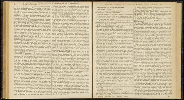 Raadsverslagen van de gemeente Leeuwarden, 1865-2007 (Notulen) 1884-09-25