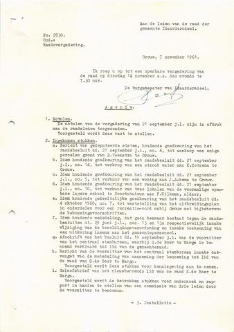 raadsverslagen Idaarderadeel 1935-1983 1961-11-14