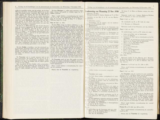 Raadsverslagen van de gemeente Leeuwarden, 1865-2007 (Notulen) 1950-11-22