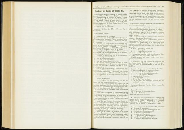 Raadsverslagen van de gemeente Leeuwarden, 1865-2007 (Notulen) 1932-12-28