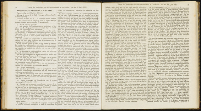 Raadsverslagen van de gemeente Leeuwarden, 1865-2007 (Notulen) 1880-04-22
