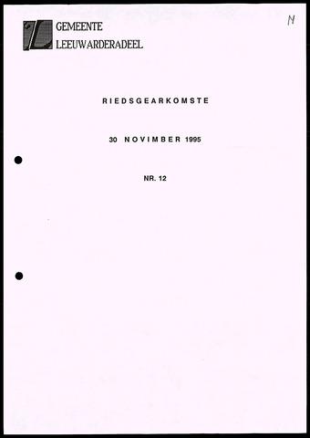 Notulen van de gemeenteraad van Leeuwarderadeel 1995-11-30