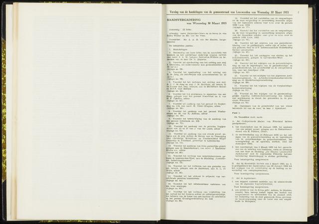 Raadsverslagen van de gemeente Leeuwarden, 1865-2007 (Notulen) 1955-03-30
