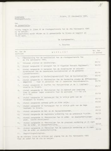 Notulen van de gemeenteraad van Leeuwarderadeel 1985-02-28