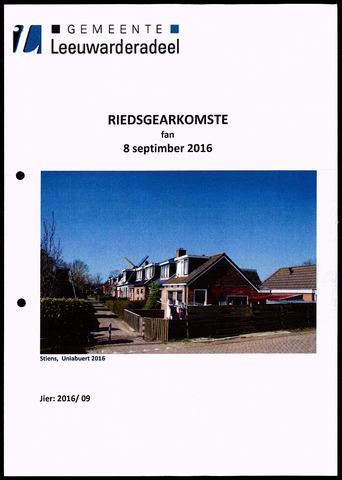 Notulen van de gemeenteraad van Leeuwarderadeel 2016-09-08