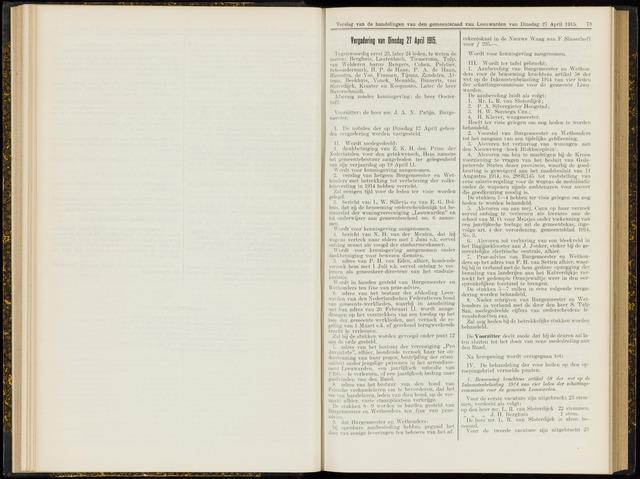 Raadsverslagen van de gemeente Leeuwarden, 1865-2007 (Notulen) 1915-04-27