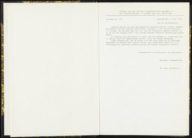 Raadsverslagen van de gemeente Leeuwarden, 1865-2007 (Bijlagen) 1966-01-01