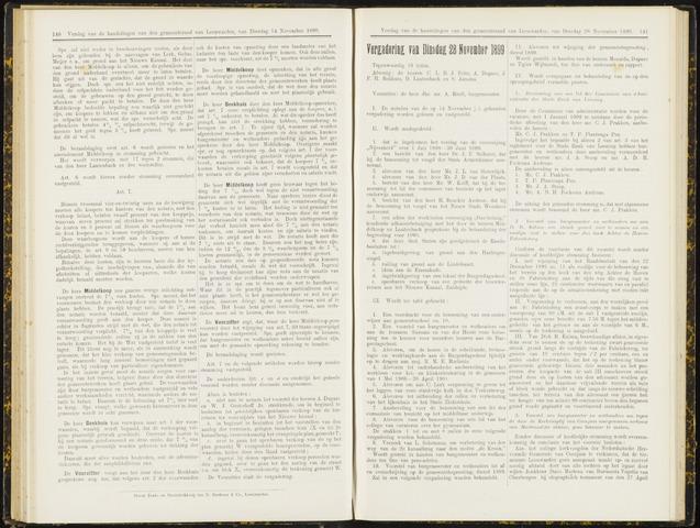 Raadsverslagen van de gemeente Leeuwarden, 1865-2007 (Notulen) 1899-11-28