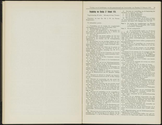 Raadsverslagen van de gemeente Leeuwarden, 1865-2007 (Notulen) 1934-02-27