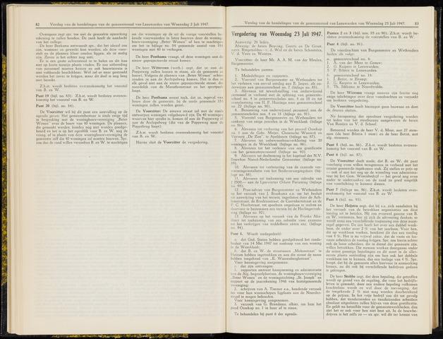 Raadsverslagen van de gemeente Leeuwarden, 1865-2007 (Notulen) 1947-07-23