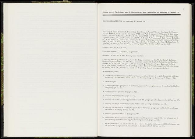Raadsverslagen van de gemeente Leeuwarden, 1865-2007 (Notulen) 1977-01-31