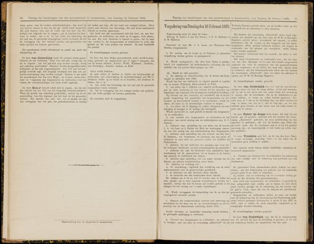 Raadsverslagen van de gemeente Leeuwarden, 1865-2007 (Notulen) 1895-02-26