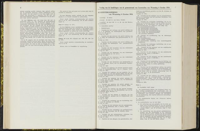 Raadsverslagen van de gemeente Leeuwarden, 1865-2007 (Notulen) 1954-10-06