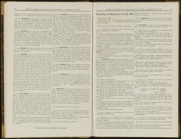 Raadsverslagen van de gemeente Leeuwarden, 1865-2007 (Notulen) 1889-07-23