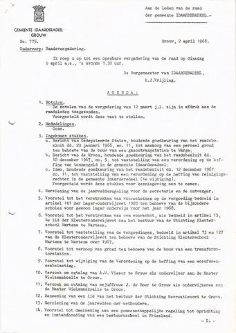 raadsverslagen Idaarderadeel 1935-1983 1968-04-09