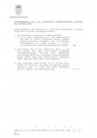 Boarnsterhim vergaderstukken gemeenteraad  1985-10-01