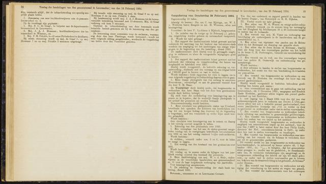Raadsverslagen van de gemeente Leeuwarden, 1865-2007 (Notulen) 1884-02-28