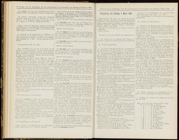 Raadsverslagen van de gemeente Leeuwarden, 1865-2007 (Notulen) 1909-03-09